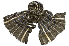 Шарф жатка коричневый 0852