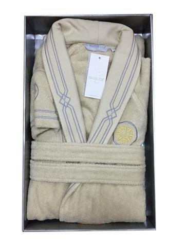 ELEGANZE MARINE - ЭЛЕГАНЗ МАРИН махровый мужской  халат с тапочками  Maison Dor Турция