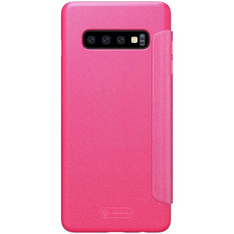 Чехол-книжка Nillkin Sparkle для Samsung Galaxy S10+ (Розовый)