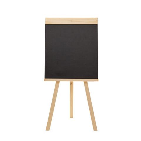 Доска - мольберт меловая (грифельная) Attache 42х45см, черная, h 90см