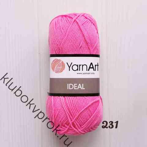 YARNART IDEAL 231, Яркий розовый