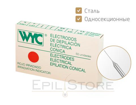 Стальные иглы для электроэпиляции WYC (ВИК) K2, K3, K4, F2, F3, F4 - 50 штук