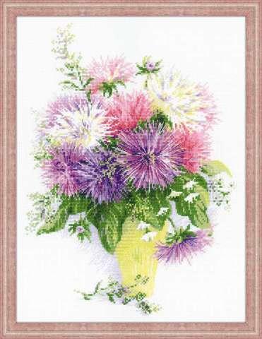 производитель РИОЛИС ¶артикул 1389¶размер 30х40¶техника счетный крест¶тематика цветы¶состав канва 14