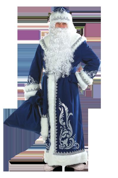 Дед Мороз аппликация синий