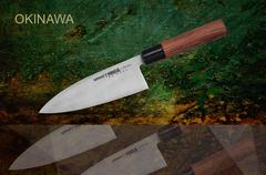SO-0129 Нож кухонный стальной Деба Samura Okinawa