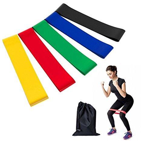 Фитнес резинки – эспандер, набор 5 шт.