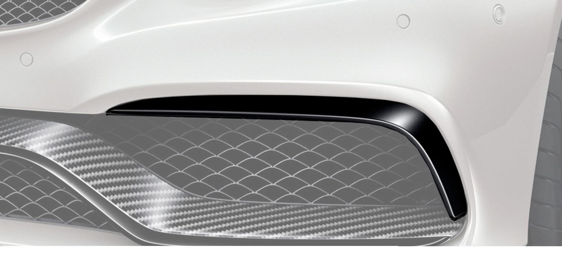 Карбоновые накладки на воздухозаборники переднего бампера AMG Style для Mercedes С-class W205