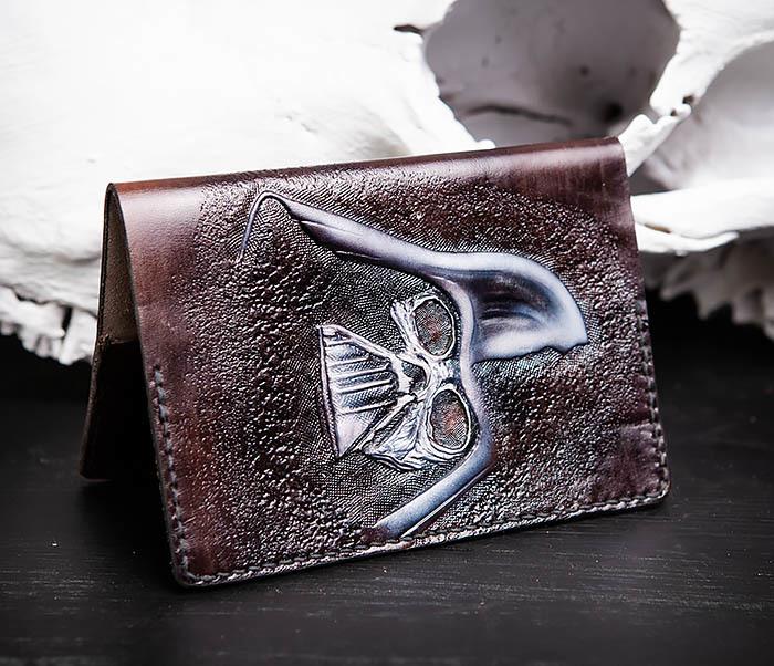 BC204 Кожаная обложка ручной работы «Дарт Вейдер» фото 04