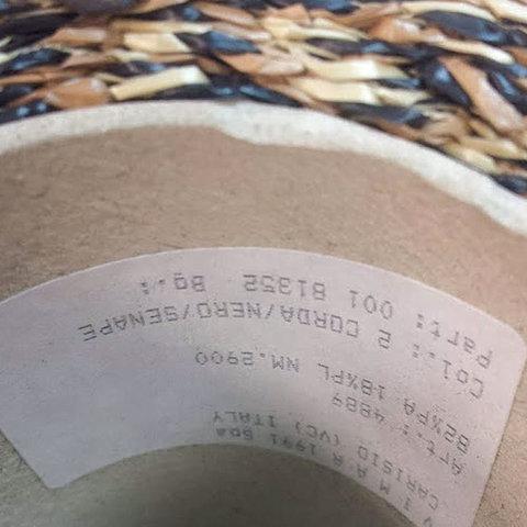 Плетеная рафия имитация VIMAR 290 соломка с черным