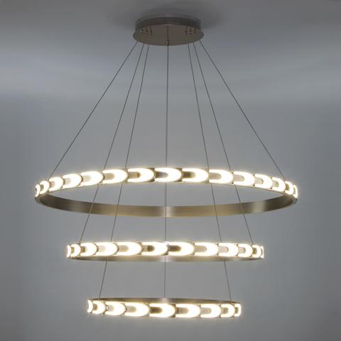 Дизайнерский светодиодный светильник с пультом управления 90163/3 сатин-никель