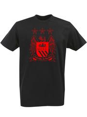 Футболка с однотонным принтом FC Manchester City (ФК Манчестер Сити) черная 006