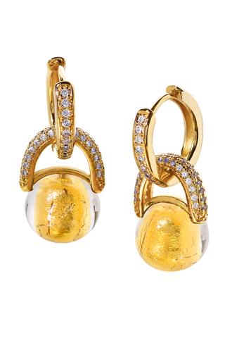 Серьги Perla Beatrice Crystal Gold 004O