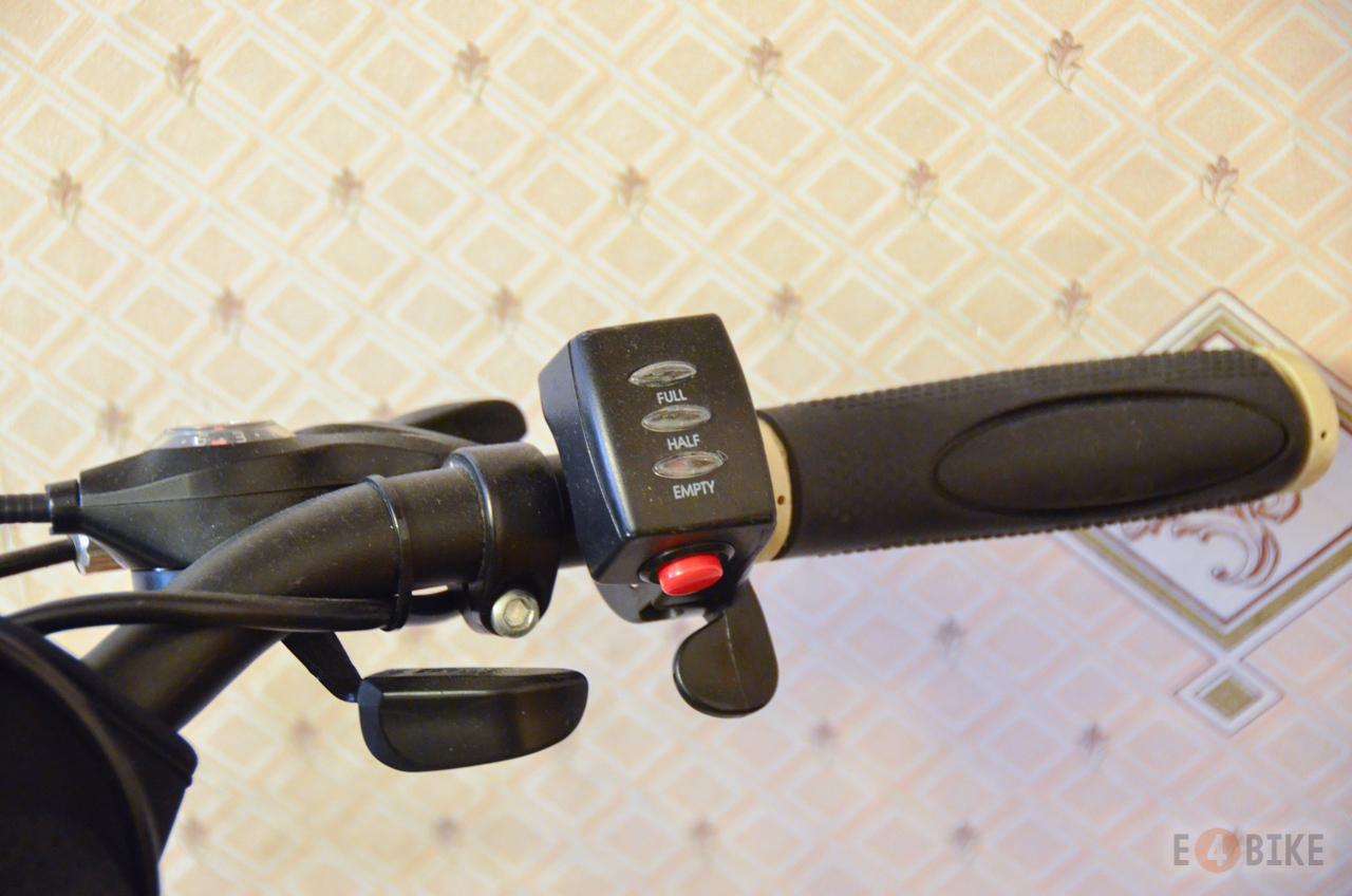 Ручка газа (под палец) - Курок с индикатором