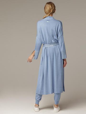 Синий кардиган из струящегося шёлка с кашемиром - фото 4