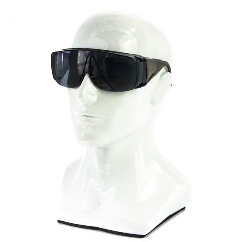 Очки защитные открытого типа, затемненные, ударопрочный поликарбонат, бок и верх защита, СИБРТЕХ