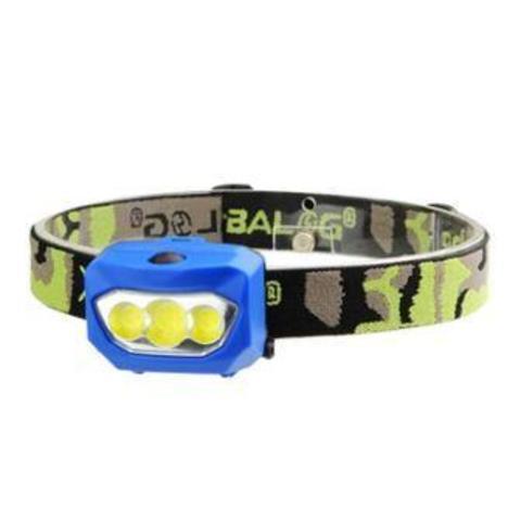 Фонарь налобный BAILONG BL-933. 3*COB LED, 3*ААА