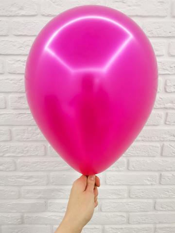 №12 Фуксия Гелиевый шар металл 30см с обработкой
