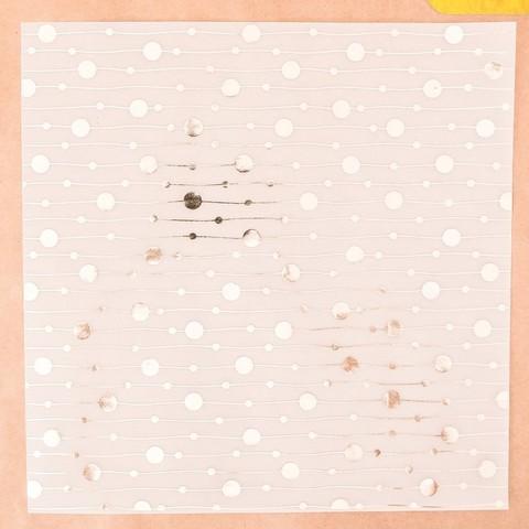 Калька декоративная c фольгированием «Гирлянды», 30,5 × 30,5 см