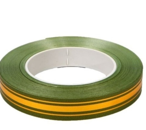 Лента золотая полоса BL (размер: 2 см х 50 ярдов) Цвет: оливковый