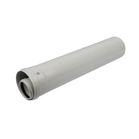 Труба для коаксиального дымохода STOUT D60/100 мм, длина 500 мм (для конденсационного котла)