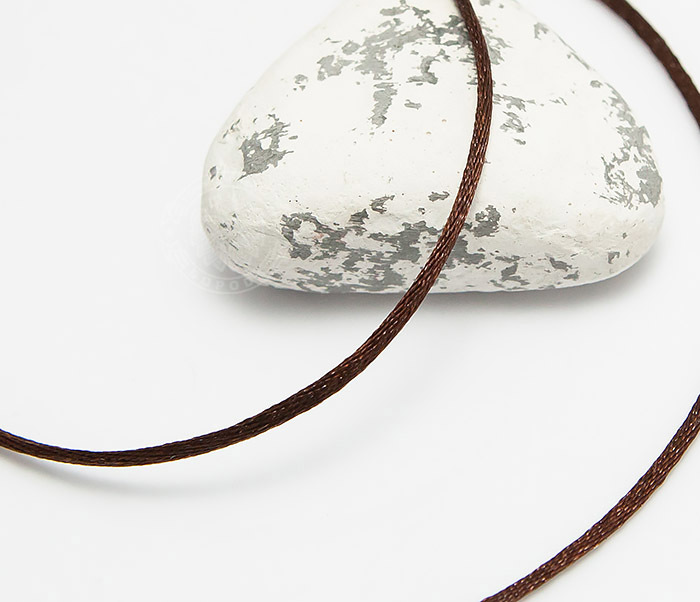 PL279-2 Коричневый шнурок (гайтан) на шею из шелка