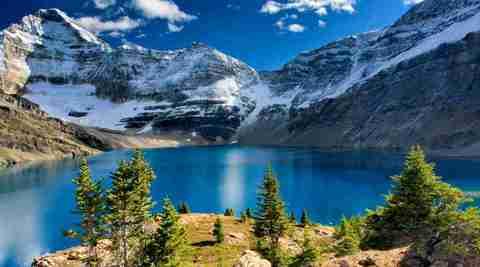 Алмазная Мозаика 50x65 Горное озеро
