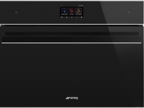 Компактный духовой шкаф Smeg SF4604WMCNX с СВЧ