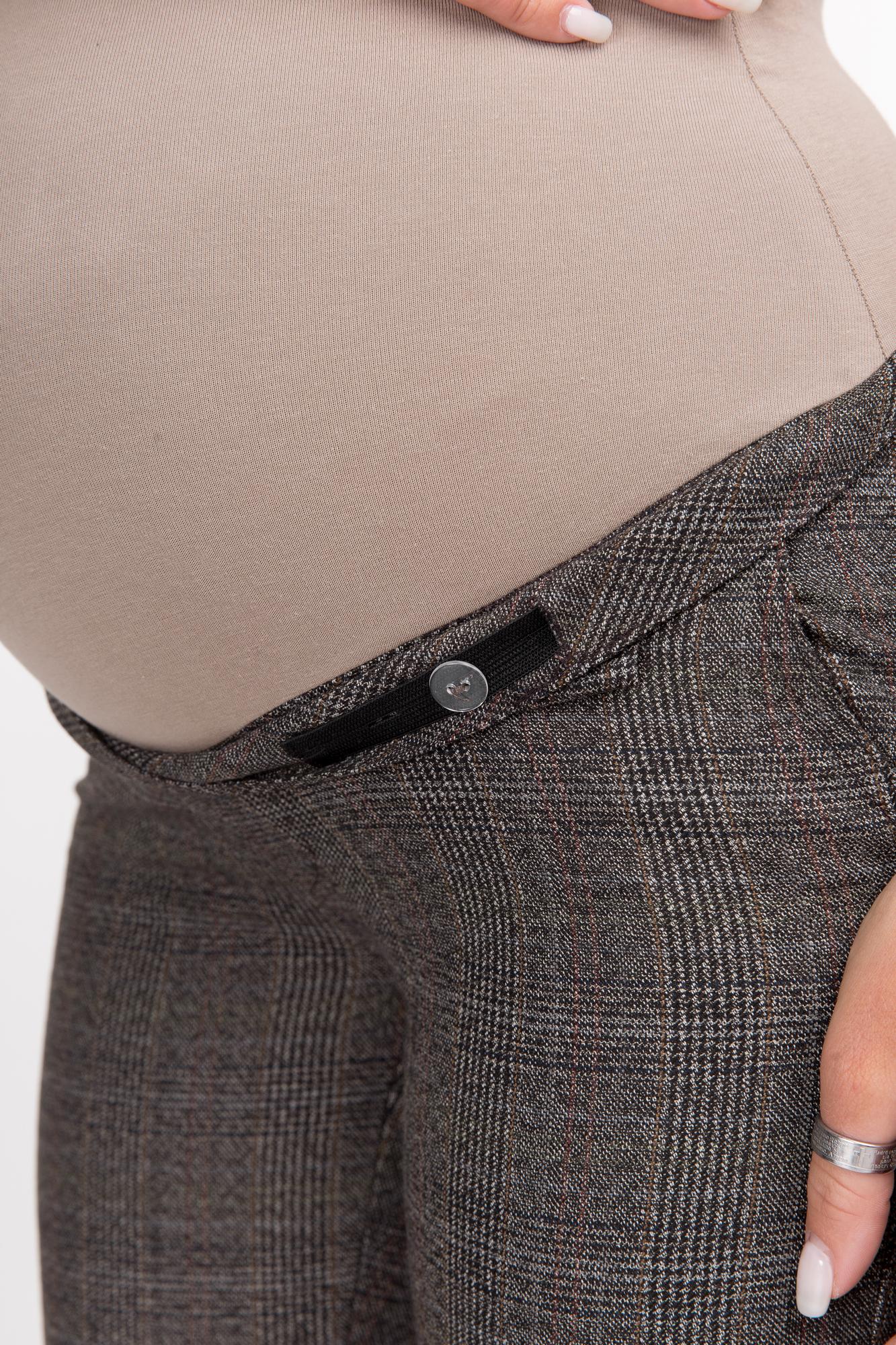 Брюки для беременных 09860 коричневый-бежевый