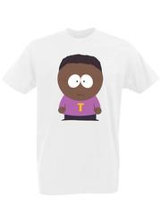 Футболка с принтом мультфильма Южный парк (South Park) белая 0009