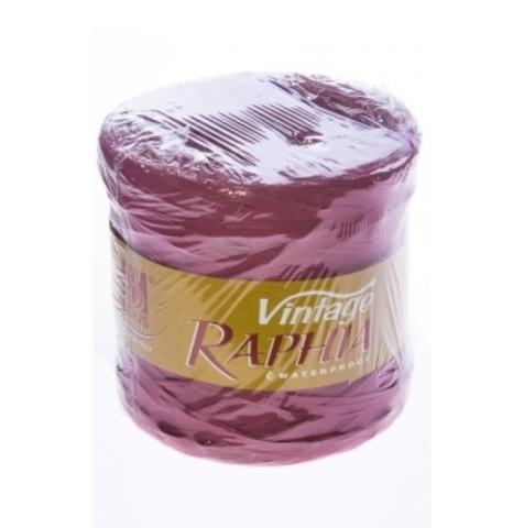 Рафия искусственная Винтаж 200 м Цвет: пастельный сиреневый