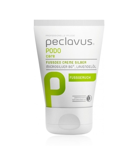 Крем-дезодорант для ног с серебром Peclavus Fußdeo Creme Silber, 30 мл