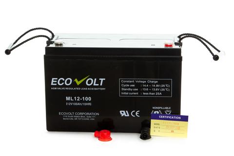 Аккумулятор ECOVOLT ML 12-100