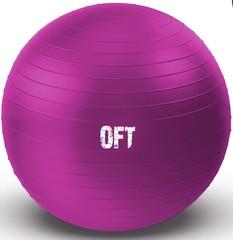 Гимнастический мяч Original FitTools 55 см фуксия с насосом