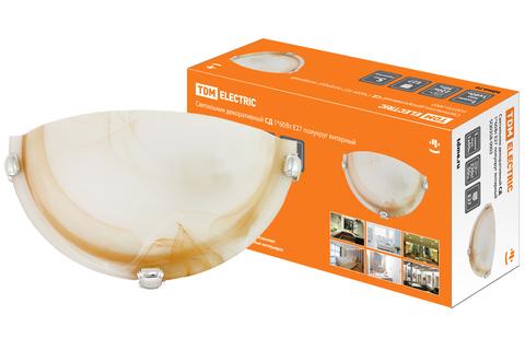 Светильник декоративный СД 1*60 Вт E27 полукруг янтарный (в индивид. коробке) TDM