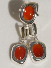 Лорана(кольцо + серьги из серебра)