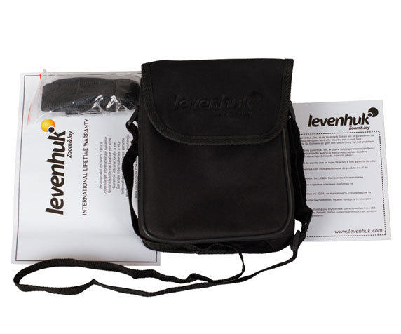 Комплект поставки бинокля Levenhuk Karma Plus 10x42