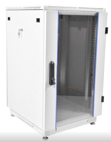 Шкаф телекоммуникационный напольный 27U (600 × 600) дверь стекло ЦМО ШТК-М-27.6.6-1ААА