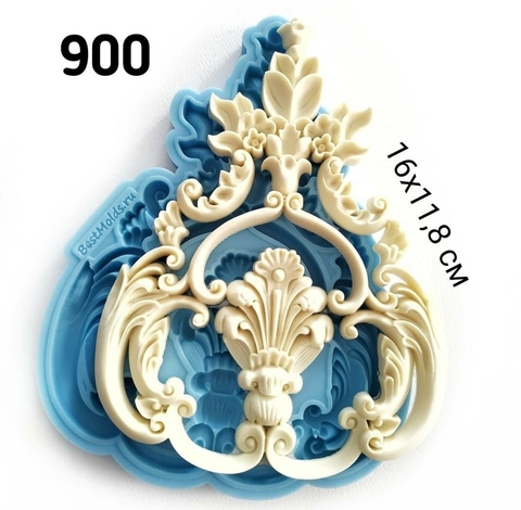 Молд Орнамент 16х11,8, Арт.PO-0900, силикон