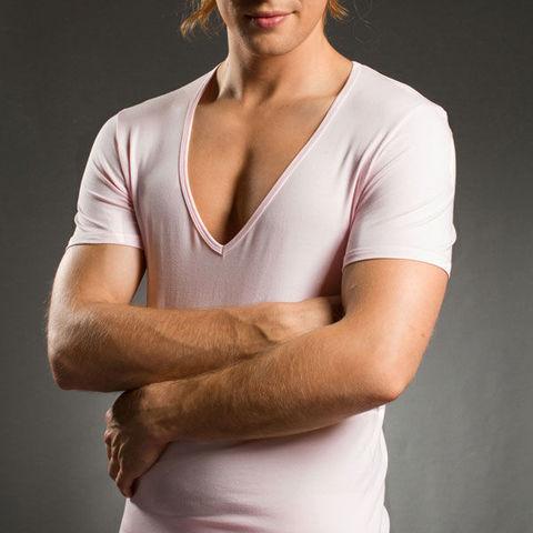 Мужская футболка Doreanse светло-розовая 2820