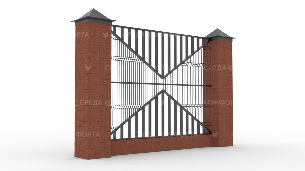 Забор 3Д ZBR0080