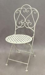 Стул складной кованый Love Chair Белый