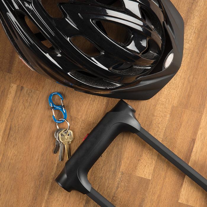Карабин металлический NiteIze S-Biner SlideLock, алюминевый,размер 4, серый
