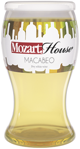 Вино столовое Макабео Моцарт Хаус белое сухое 0,187л.