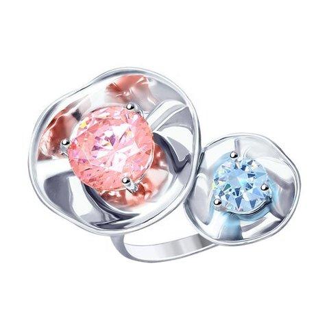 8-94010006 - Кольцо из серебра с фианитами