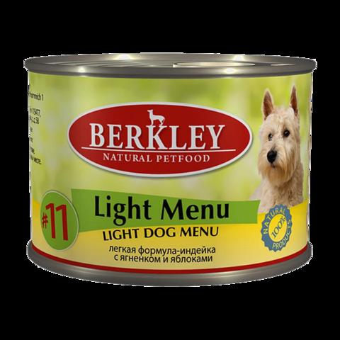 Berkley № 11 Консервы для собак с индейкой и ягненком легкая формула