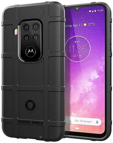 Чехол для Motorola Moto One Pro (One Zoom/P40 Note) цвет Black (черный), серия Armor от Caseport