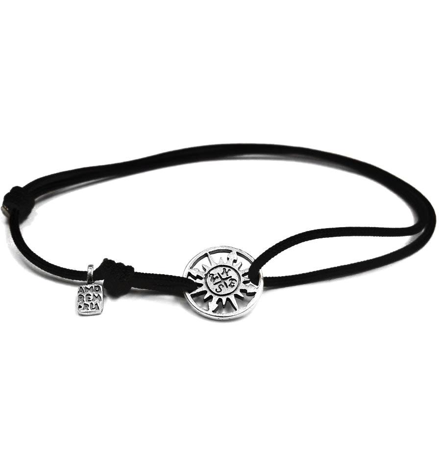 Compass bracelet, sterling silver