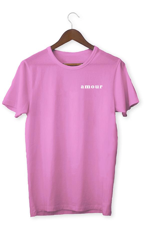 Футболка с надписью розовая