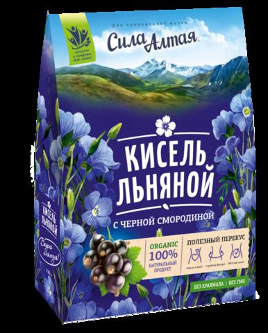 СИЛА АЛТАЯ Кисель льняной с черной смородиной, 150 г
