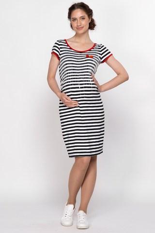 Платье для беременных 10130 черно-белый